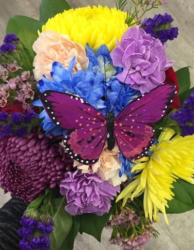 Bright butterfly bouquet