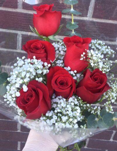 Half Dozen Rose Bouquet $20